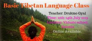 TIIBETI KEELE ALGKURSUS / BASIC TIBETAN LANGUAGE CLASS - DRUKMO GYAL @ Sorig Khang Estonia - Väluste kool