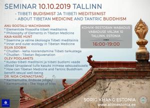 SEMINAR TIIBETI BUDISMIST JA TIIBETI MEDITSIINIST / SEMINAR ABOUT TIBETAN MEDICINE AND TANTRIC BUDDHISM @ Kohvik - Restoran Wabadus